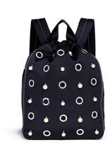 3.1 Phillip Lim 'Go-Go' faux pearl and eyelet medium satin drawstring backpack