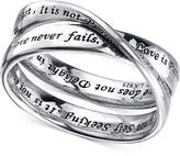 Unwritten and#034;Love Is Patientand#034; Ring in Sterling Silver