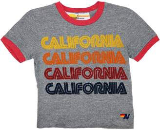 Aviator Nation California Graphic Cotton-Blend Top