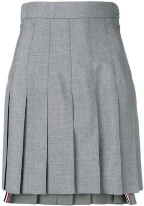 Thom Browne High Waist School Uniform Miniskirt