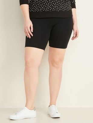 Old Navy High-Waisted Jersey Plus-Size Biker Shorts -- 9-inch inseam