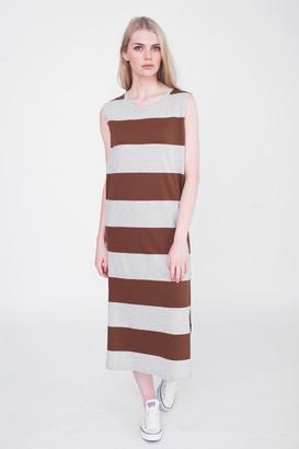 Beaumont Organic Piper Cotton Dress - M - Brown
