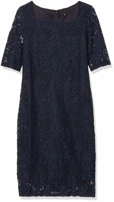 Tiana B Women's Elbow Sleeve Lace Dress