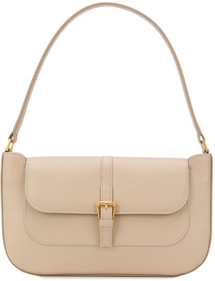 BY FAR Miranda buckle-flap shoulder bag