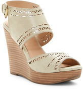 Restricted Marla Laser-Cut Wedge Sandal