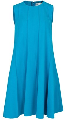 Oscar de la Renta Sleeveless Pleated Dress