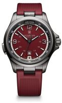 Victorinox Night Vision Stainless Steel & Rubber Watch