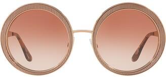 Dolce & Gabbana Eyewear Textured Round Sunglasses