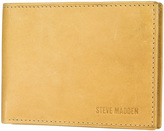 Steve Madden Tan Antique Passcase Leather Wallet