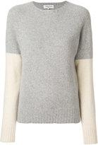 YMC contrast sleeve jumper