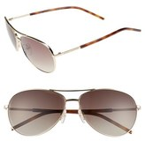 Marc Jacobs Women's 59Mm Aviator Sunglasses - Gold