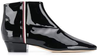 Rodo patent ankle boots