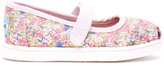 Toms Pink Canvas Ditsy Floral Tiny Mary Janes