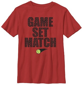 Fifth Sun Boys' Tee Shirts RED - Red 'Game Set Match' Tee - Boys