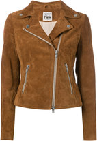 Twin-Set suede jacket - women - Calf Leather/Acetate - XS