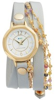 La Mer Women's Nolita Leather Wrap Strap Watch, 22Mm