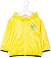 Diesel hooded zipped rain jacket
