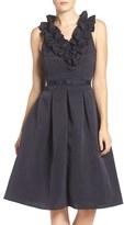Eliza J Faille Fit & Flare Dress (Regular & Petite)