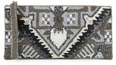 Mary Frances Beaded Geometric Clutch