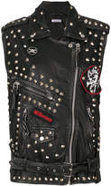 P.A.R.O.S.H. studded patch gilet