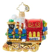 Christopher Radko All Aboard Train Ornament