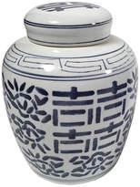 One Kings Lane Vintage Ceramic Blue & White Ginger Jar
