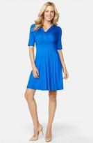 Maternal America Women's 'Tummy Tuck' Maternity/nursing Three Quarter Sleeve Dress