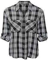 Dex Plaid Button Shirt Top
