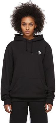adidas Black Trefoil Essentials Hoodie