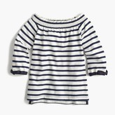 J.Crew Girls' off-the-shoulder striped top