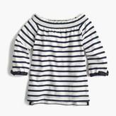 J.Crew Girls' off-the-shoulder striped top