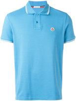Moncler stripe collar polo-shirt - men - Cotton - S