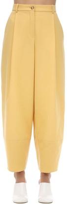 Nina Ricci Wool Gabardine Wide Leg Pants