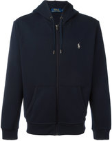 Polo Ralph Lauren kangaroo pocket zipped hoodie - men - Cotton/Polyester/Spandex/Elastane - M