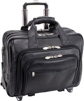 McKlein GOLD COAST LEATHER 17 DETACHABLE-WHEELED LAPTOP CASE [PATENTED]