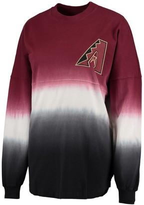 Fanatics Women's Red Arizona Diamondbacks Oversized Long Sleeve Ombre Spirit Jersey T-Shirt