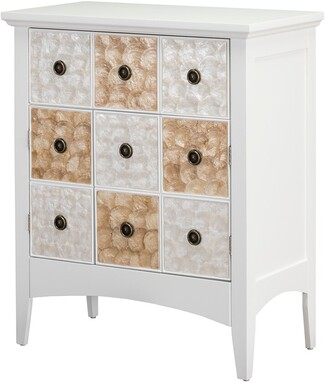 """Elegant Home Fashions Suduku 32"""" High Two Door - One Drawer Accent Cabinet"""