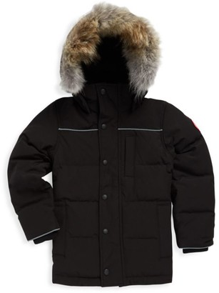 Canada Goose Kid's Eakin Fur Trimmed Quilted Parka