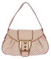 Celine Leather-Trimmed Monogram Handle Bag