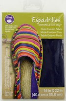 Dritz Cotton Espadrille Basic Outer Fabric 16-inch x 22-inch-Navy Blue