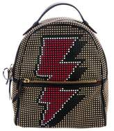 Les Petits Joueurs Studded Leather Backpack