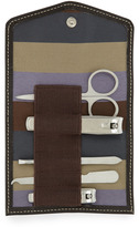 Neiman Marcus Manicure Set and Leather Case, Inca
