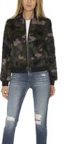 Pam & Gela Camo Fur Bomber Jacket