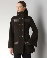 Women's M- J Short Notch Collar Wool Coat