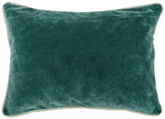 """Kosas Harriet Velvet 14""""x20"""" Rectangular Throw Pillow, Green by Home"""