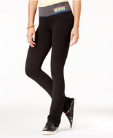 Material Girl Active Juniors' Workout Graphic Yoga Pants, Only at Macy's