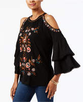 INC International Concepts Petite Cold-Shoulder Top, Created for Macy's