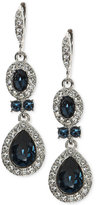 Givenchy Faceted Stone and Crystal Double Drop Earrings