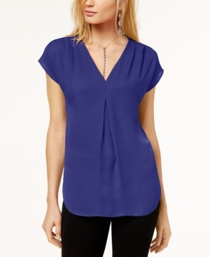 INC International Concepts Inc Petite Pleated Top, Created for Macy's