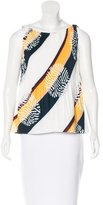 Raoul Pleated Printed Top